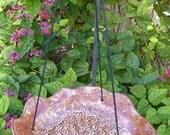 Hanging Ceramic Bird Feeder / Bath