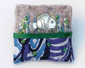 Fish brooch - fish jewellery - silver fish - fishing gifts - little fish - underwater - seaside jewelry