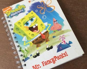 SpongeBob SquarePants Mr. Fancy Pants Little Golden Book Recycled Journal Notebook