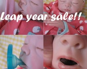SALE! OPEN MOUTH Reborn baby girl, Holds a full pacifier, faux formula bottle, ready to ship!