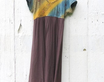 Boho Dress, Upcycled Dress, Gypsy Maxi dress, repurposed clothing, one of a kind clothes for women, bohemian dress, hippie dress