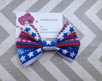 Nautical Fabric Hair Bow