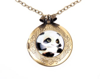 Panda Necklace, Panda locket,  2020m