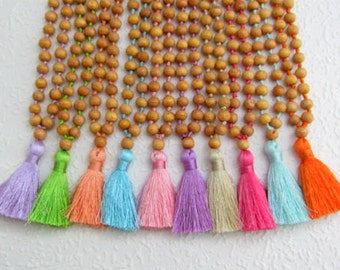 Mia Girls Necklace, Cute Beaded Girls Tassel Necklace, Childrens Fashion Jewelry, Handmade Jewelry for Children, Gifts for Girls Bridesmaid