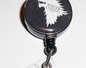 Badge Holder-Winter is Coming - Game of Thrones - ID Badge Reel - Retractable Badge Holder, Id Badge Reel, Id Retractable Reel, IDR1406