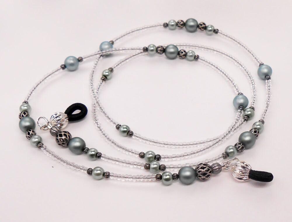 beaded eyeglass chain glass pearl eyeglass chain