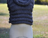 Cowl Neck Vest/ Cropped Sweater / Fall Sweater / Sweaters for women / Sweater Vest / Hooded Vests / Knit Vest for Women / Color BARLEY
