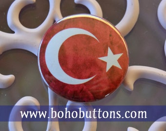 Turkey Flag pinback button Turkish badge Istanbul magnet middle east patch custom pins flags of the world lapel pin party favor gift turk