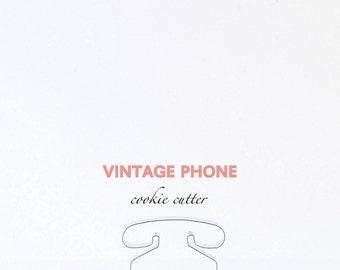 ORIGINAL Telephone Vintage Phone Cutter, Custom Cookie Cutters, Cookies,
