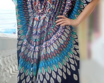Plus size Maxi Dress, Maternity Nursing gown, Plus size Kaftan, Plus size Dress, Hospital gown, Indian caftan, feeding night gown