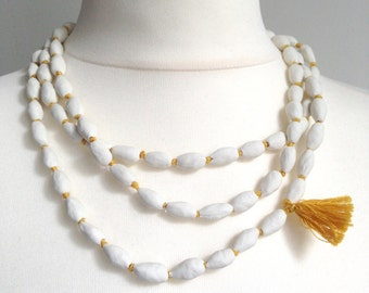 porcelain long necklace