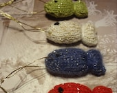 FISH Hand Knit Christmas Tree Decoration