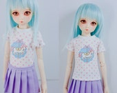 Slim MSD Minifee or SD BJD Shirt - Sweet Carousel