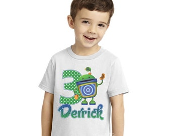Team Umizoomi Iron on Transfer - Tshirt | Shirt | Tee | Team Umizoomi Party | Bot | Geo | Milli | 1st | First | Birthday Shirt | Polka Dots