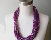 Dark Pink Scarf Necklace ...