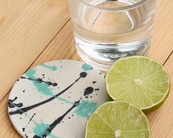 Splatter Design Ceramic Coaster