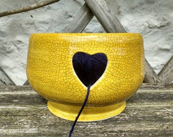 Pottery Yarn Bowl UK Knitting Crochet Bowl for Wool Handmade - ready to ship