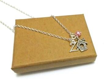 Bird House Necklace or Bird House Bracelet, Gift for Bird Lover, Gift For Gardener, Bird House Jewellery, Garden Gift, Bird House Jewelry