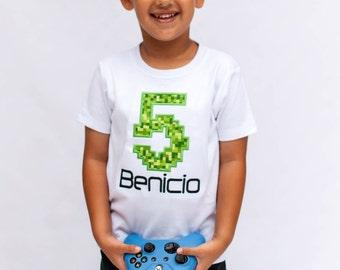 Gamer Craft Pixel Birthday Shirt