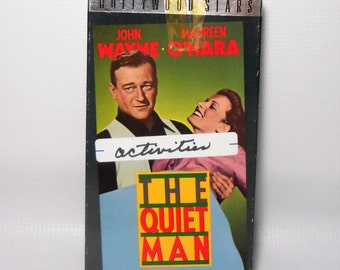 "Vintage VHS Movie, John Wayne, ""The Quiet Man"", VCR Tape, Old Movies, Western, The Duke"