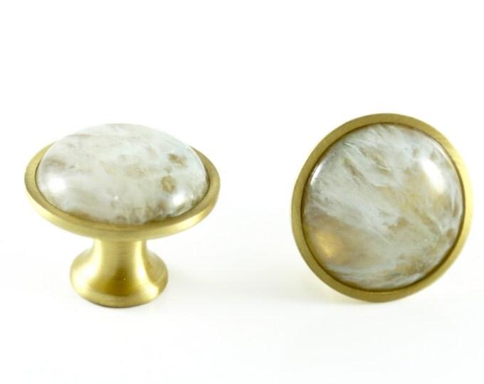 Druzy Agate Stone Knob