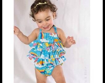 Baby Romper PDF Sewing Pattern, Girls Sewing Pattern, Ruffled Baby Romper, Baby Romper Pattern, Kids Sewing Patterns, PDF Sewing Pattern