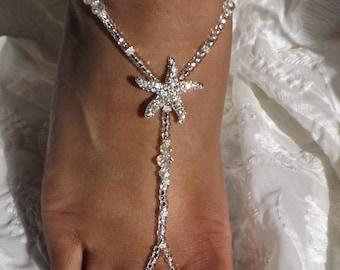 Crystal Rhinestone Crystal Bridal Jewelry Wedding Jewelry Bridesmaids Gift  Rhinestone Starfish