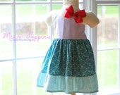 Lil Ariel V-back strappy sundress, Twirly Lil Mermaid Inspired, Disney Princess Inspiration, Dress Up, Every Day Play Wear, Handmade