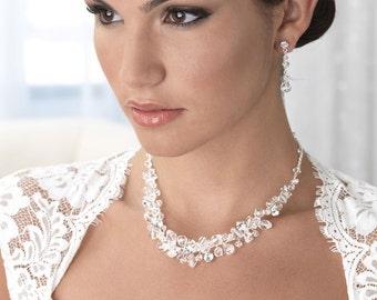 Swarovski Crystal Jewelry Set, Bridal Jewelry Set, Rhinestone & Crystal Jewelry, Wedding Jewelry Set, Swarovski Crystal Jewelry ~JS-1640