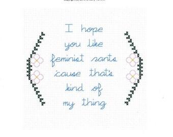 I Hope You Like Feminist Rants Cross Stitch Pattern, Feminist Cross Stitch, New Girl Jessica Day Quote, Modern Cross Stitch Pattern