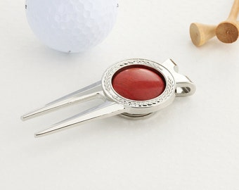 Golf ball mark repair tool with Pink Ivory