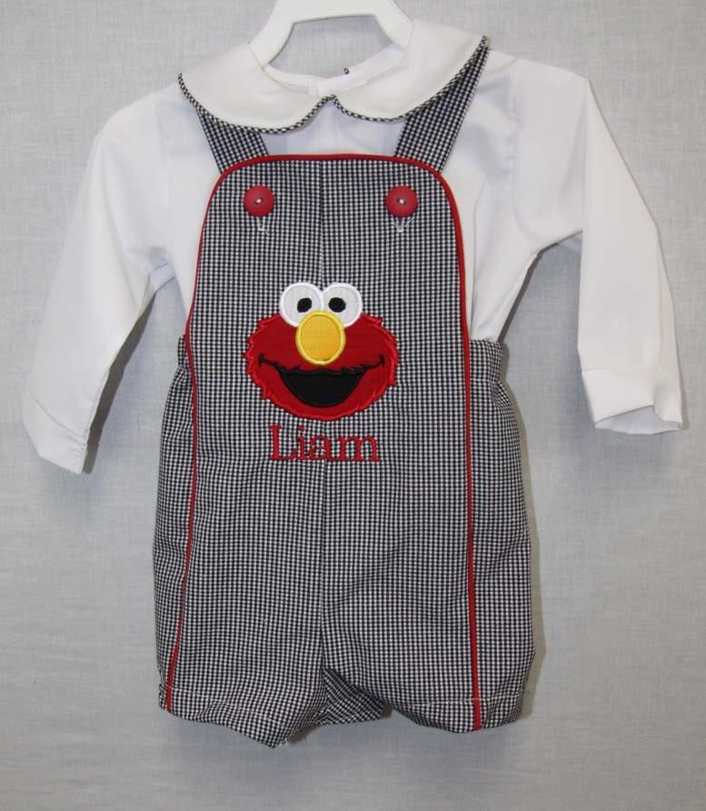 Elmo Birthday Outfit Baby Boy Clothes Elmo Birthday Shirt