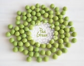 Wool Felt Balls - Size, Approx. 2CM - (18 - 20mm) - 25 Felt Balls Pack - Color Pea Green-1020- Felt Pom Poms - Pea Green Color Felt Balls