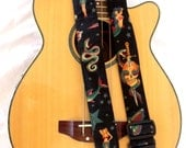 Sailor Jerry Tattoo Black guitar strap