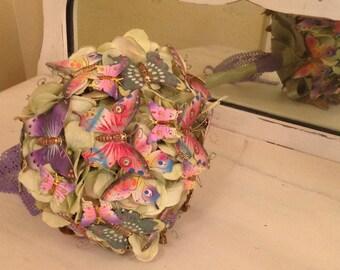 Custom Made Brooch & Petal Bouquet Brooch Silk Flower Bouquet