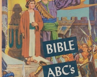Vintage Childrens book: Bible stories - Bible ABCs - hardcover