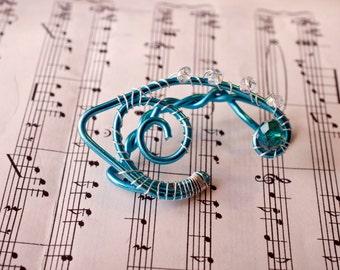 Blue elf ear cuff