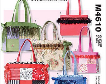 McCall's M4610 Fashion Accessories Tote Bags Sewing Pattern