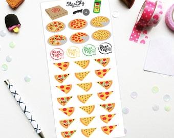 Pizza Stickers, Pizza Planner Stickers, Pizza Night stickers, Planner sticker set, Meal Planner, Food stickers, Supreme Pizza Sticker- Matte