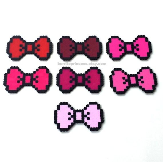 8 Bit Hair Bows 8 Bit Bow Ties Pixel Hair Bows Pixel Bow
