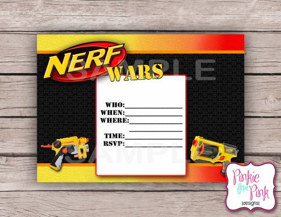 Nerf Party Invitations is the best ideas you have to choose for invitation example