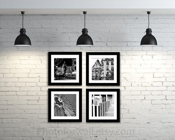 Paris Photography black and white photography wall