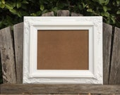 White 11x14 Picture Frame, Baroque, Wedding Frame,Wide Chunky Frame,Ornate Wedding Frame, Nursery, Photo Prop #SC(Los Angeles)