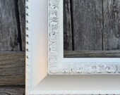 Ornate Picture Frame, 16x20, 18X24, 20X30  White,Shabby Chic,Custom size,Distressed,Glass & Backings ,Wedding Frame K784 (Los Angeles)