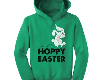 Hoppy Easter Bunny Toddler-Kids Hoodie