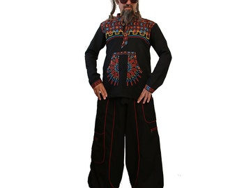 Baggy Cargo pants - Afghani Harem Pants - Psy - Rave - Baggy Pants