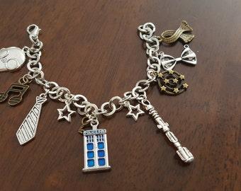 Doctor Who Inspired Tardis Charm Bracelet