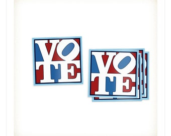 Pop Art Vote Stickers (5 pack) - Vote Stickers - Election Stickers - Voting Stickers - Political Stickers