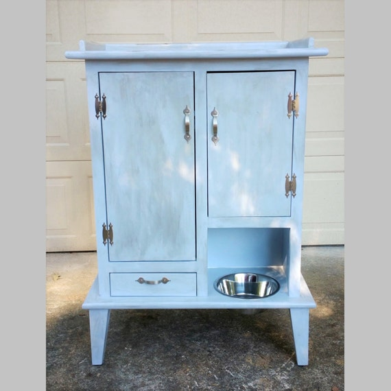 Pet Pantry With Open Bowl Bowl Drawer And Two Cabinets Flat