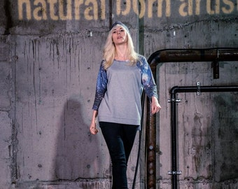 Celaeno - Raglan Sleeve Galaxy print sweatshirt